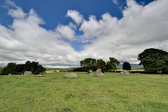 Long Meg and her Daughters ancient stone circle, Cumbria, England (vincocamm) Tags: green blue cumbria ancient stones standing circle stonecircle neolithic bronzeage summer oaks pennines