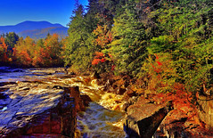 Rocky Gorge, Swift River, along Kancamagus Highway, White Mountains, New Hampshire, USA (klauslang99) Tags: klauslang rocky gorge swift river new hampshire water morninbg forest fall autumn waterfall rapids white mountains