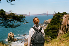 Tam / Lands End - San Francisco, Californie (Ludovic Macioszczyk Photography) Tags: tam lands end san francisco californie canon ae1 135 kodak portra 400 iso mai 2018 étatsunis © ludovic macioszczyk usa film argentique lumière 35mm couleur california voyage vacances plage mer sea bay area golden gate bridge city colors couleurs sf amérique district photography analog ville