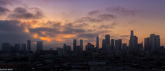 LA (sochhoeung) Tags: los angelos losangelos la downtown buildings cityscape landscapes california sunset aftersunset sunsetlight clouds labuildings sunsetclouds