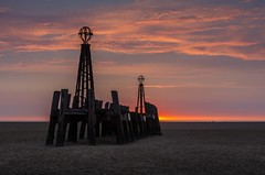 Sunset at the Old Pier, Lytham St Anne's. (antonyrowlandsphotography.com) Tags: oldpier lythamstannes beach sunset fyldecoast
