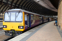144019, York, April 4th 2017 (Southsea_Matt) Tags: 144019 class144 pacer noddingdonkey northernrail york yorkshire england unitedkingdom canon 80d sigma 1850mm april 2017 spring train railway railroad vehicle passengertravel publictransport dmu dieselmultipleunit