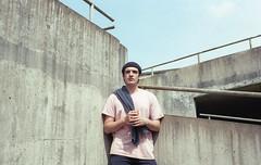 Cj Pandit (fraser_west) Tags: portrait film leicester music band magique 35mm kodak colour naturallight wetheconspirators