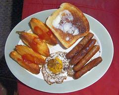 Needs_Coffee (Guyser1) Tags: food sausage egg toast potatoes breakfast westyellowstone canonpowershots95 pointandshoot