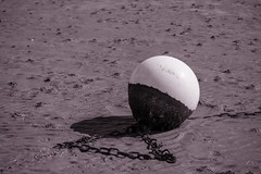 A lonely buoy whilst the tide is out (kerryhilden) Tags: isolated lonely kent hernebay hampton hightide beach seaside sea buoyancy buoy