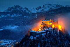 Fire & Ice (hapulcu) Tags: austria austrija autriche hohenwerfen oostenrijk salzburgerland werfen castle hiver invierno lac lake schloss winter österreich