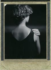 W. (denzzz) Tags: portrait polaroid polaroid54 expired blackandwhite blackwhite skancheli analogphotography filmphotography instantfilm wista45dx 4x5 largeformat