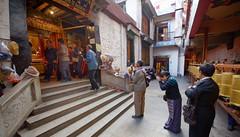 Monastery along the outer Linkhor of Lhasa, Tibet 2017 (reurinkjan) Tags: tibetབོད བོད་ལྗོངས། 2017 ༢༠༡༧་ ©janreurink tibetanplateauབོད་མཐོ་སྒང་bötogang tibetautonomousregion tar ütsang lhasa linkhor monasteryདགོན་པ།གླིང་།dgonpagling monastery monasteryamitayns tibetanpeopleབོད་རིགསbörik tibetanpeopleབོད་མིbömi ladyfemalewomanམོmo མོ་སྐྱེསmokyé femalesམོ་རྣམསmonam faceགདོང་པ་dongpa གདོང༌dong གདོང་ཁdongkha portrait portraiture facecolorགདོང་མདོགdongdok portrayal picture photograph likeness lingkoroutercircumambulationroadinlhasaགླིང་བསྐོརglingbskor