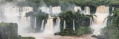 A curtain of waterfalls... (E.K.111) Tags: iguazu waterfall longexposures nature panorama paraná brazil br