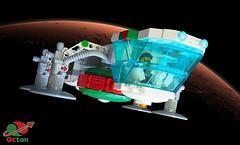 Octan Eagle (David Roberts 01341) Tags: space scifi spaceship lego minfigure tanker cargo octan transporter