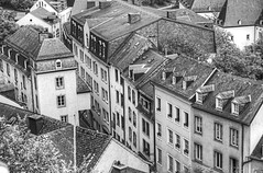 Grund-3 (albyn.davis) Tags: grund luxembourg europe travel buildings blackandwhite perspective windows architecture rooftops hdr