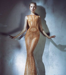 Spider web evening dress