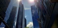 Seattle Tall Buildings (rve13) Tags: seattle downtown galaxys9 skyscrapers tallbuildings sun cloudsstormssunsetssunrises lookup