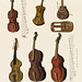 A collection of antique violin, viola, cello and more from Encyclopedia Londinensis; or Universal Dictionary of Arts, Sciences and Literature (1810). Digitally enhanced from our own original plate.