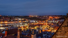 Whitby at night. (jack cousin) Tags: england northsea uk whitby yorkshire boat boats building chimney church cloud coast colourful harbor harbour holiday light lights litup moored mooring night outdoor popular port quay railway reflection reflections resort sea seascape seashore shore sky skyline tourism touristattraction town townscape travel vacation water wharf windows nikond610 on1photos