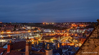Whitby at night.