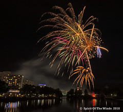 Crawling Across The Sky (jimgspokane) Tags: fireworks pyrotechnics spokanewashingtonstate spokaneriver thedividionstbridge nightshots aftersunset