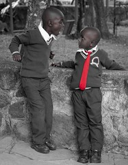 You talkin to me?.jpg (Darren Berg) Tags: tie kenya scream argument yell selectivecolor red uniform boys school africa nairobi argue