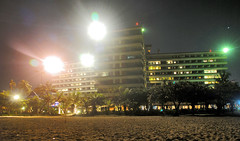 Hotel Grand Bali Beach (Everyone Sinks Starco (using album)) Tags: bali sanur nightshoot fotomalam building gedung architecture arsitektur hotel