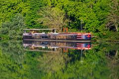Reflections, Avignon (Ken Barley) Tags: avignon barge france provence rhonecruise
