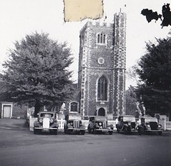 St Mary Monken Hadley Barnet London 1950's (Bury Gardener) Tags: bw blackandwhite oldies old snaps scans 1950s london england uk britain
