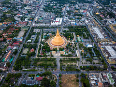 Aerial view of Phra Pathom chedi Oldest Buddhist structure in Thailand. One of the most important places for Buddhists in Thailand can be found in Nakhon Pathom, one of the oldest cities in Thailand. (MongkolChuewong) Tags: aerial aerialview ancient architecture art asia ayutthaya bangkok big buddha buddhism building chedi city cityscape community culture faith famous golden grand heritage historic history landmark large largest light nakhon old pagoda panorama pathom phra religion sky structure stupa sukhothai sunset temple thai thailand tourism traditional travel view wat worship yellow nakhonpathom changwatnakhonpathom th