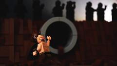 Kids These Days... (Andrew Cookston) Tags: lego dc comics batman bruce wayne mutant leader the dark knight returns tdkr tdrkii mud fight brawl superhero custom moc frank miller blue black brown macro toy still life photography andrew cookston andrewcookston
