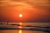 Morning stroll (Deborah Valentin) Tags: sunrise beach sea ocean water landscape seascape hiltonheadisland colignybeach silouette birds seagulls morning sun