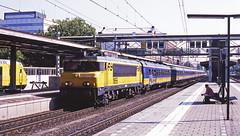 NS 1855 about to stop at Dordrecht with a Heerlen-Den Haag service on 25August 2001 (mikul44171) Tags: 1855 ns1855 dordrecht netherlands nederland holland express passenger