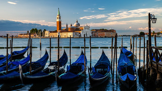 San Giorgio Maggiore and gondolas-1