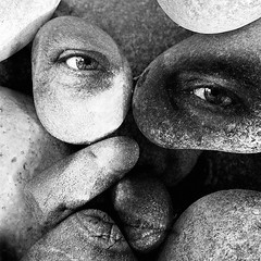 StoneFace (Corinaldesi Roberto) Tags: face portrait nature stone blackwhite texture
