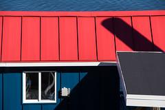 'Odd's n' Sod's' (Canadapt) Tags: building rooftop window shadow ocean princerupert bc canadapt redwhiteandblue