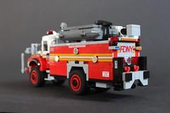 FDNY TSU 1 (sponki25) Tags: fdny moc lego new york city fire department legonyc tsu 1 tactical support unit international 7500 seagrave 4x4 2016