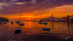 Sunset at Rovinj. (Summer Road Studios) Tags: 2018 d600 europe nikon24120 rovinj travel outdoor sea sunset water croatia landscape sailing