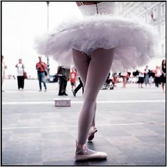 Ballerina_Rolleiflex 3.5B (ksadjina) Tags: 6x6 ballerina c41 carlzeisstessar35 italy kodakektar100 krecetova nikonsupercoolscan9000ed rolleiflex35b silverfast trieste analog dancer film scan summer
