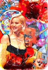 'JENNIFER LAWRENCE BEARDED BY NIGEL FARAGE' (Narolc) Tags: art abstract acrylics colour collage cloran drawing paint pva jennifer lawrence nigel farage flickr sharingart sparklingheart visualart subliminallysubversive juliancloran
