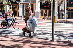 San Francisco 2018 (That's A Wrap) (burnt dirt) Tags: sanfrancisco california vacation town city street road sidewalk crossing streetcar cablecar tree building store restaurant people person girl woman man couple group lovers friends family holdinghands candid documentary streetphotography turnaround portrait fujifilm xt1 color laugh smile young old asian latina white european europe korean chinese thai dress skirt denim shorts boots heels leather tights leggings yogapants shorthair longhair cellphone glasses sunglasses blonde brunette redhead tattoo pretty beautiful selfie fashion japanese braids bag bike bicycle