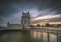 Belém Tower in last glow (Sizun Eye) Tags: belémtower belem tower torre manueline unesco worldheritage lisbon portugal sizuneye nikond750 nikon1424mmf28 nikon nikkor nikkor1424mmf28
