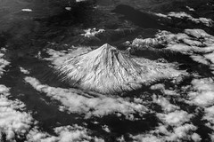 Volcan Lanin (Piotr_PopUp) Tags: volcano volcan lanin andes landscape mountain mountains blackandwhite bw bnw blackwhite monochrome mono nature fromabove aerial windowseat flying latinamerica southamerica