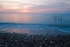 Sunrise in Çeşmeli, Mersin. (RKAMARI) Tags: 2016 cities mersin fineart landscape longexposure mediterranean minimalistic sea stones