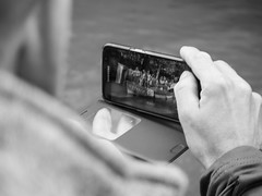 Photographing (weerwolfje) Tags: photingo street streetphotography bnw bw blackandwhite photographing olympus omd utrecht canal pride