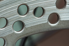 Holes (SKAC32) Tags: bicycle canonef100mmf28macrousm holes diskbrakes macromondays transportation