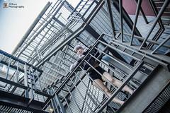 Sunny Day (Alkun(岸蓮)) Tags: vancity vancouver canada granville island granvilleisland photographer portrait photoshoot model cloud sky bridge stairs girl summer