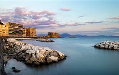 Longexposurecaracciolo (Valpopando) Tags: longexposure napoli sunset sea mediterraneo