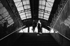 Do not be late for the train! (Ігор Кириловський) Tags: 135 35mm kyrylovskyy kirilovskiyigor railwaystation lviv ukraine viewfinder agfaoptima1035sensor agfa solitars40mmf28 film kodak400tmax rodenstockyellowmedium8 markstudiolab chernivtsi train