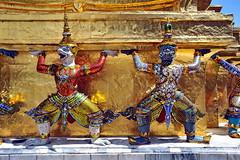 Grand Palace, Bangkok (meren34) Tags: thailand grandpalace budha gold temple bangkok travel thai photo illustrated decorated colors jewels statue guards emeraldbuddha