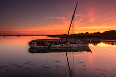 Tipner Wreck (Explore 26-6-2018) (Sunset Snapper) Tags: tipnerwreck sunset portsmouthharbour m275 woodenship rotten shipwithnoname tipnerlake reflections colour sky still calm wreck filter lee nd reversed nikon d810 2470mm longwalk june 2018 sunsetsnapper shipwreck