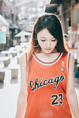Iris (Randy Wei) Tags: jordangirls chicago 23 jordan michael backlight daylight outdoors taiwan taichung jersey sporty sportsgirl sportswear