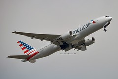 """American Airlines N751AN Boeing 777-223ER cn/30798-333 """"7BK"""" Named & sticker Azriel """"Al"""" Blackman 75 years of service @ EGLL / LHR 26-05-2018 (Nabil Molinari Photography) Tags: american airlines n751an boeing 777223er cn30798333 7bk named sticker azriel al blackman 