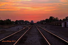 Night closes in on the yard.... (Charlie Whipp) Tags: durand yard mi cn glc great lakes central huron eastern genesee wyoming canadian national